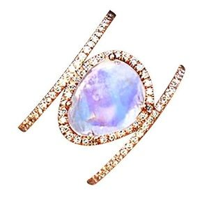 Jewelry - New MOONSTONE&CZ Ring 2 Color Choices